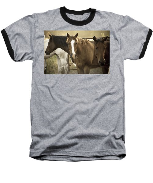 Baseball T-Shirt featuring the photograph Three Amigos by Steven Bateson