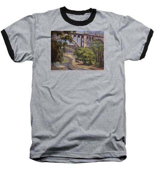 Three Bridges Baseball T-Shirt by Jane Thorpe