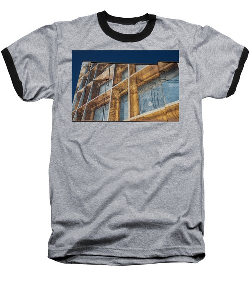 Three Dimensional Optical Illusions - Trompe L'oeil On A Brick Wall Baseball T-Shirt