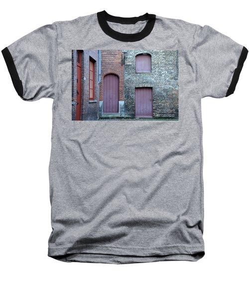 Three Doors And Two Windows Bruges, Belgium Baseball T-Shirt