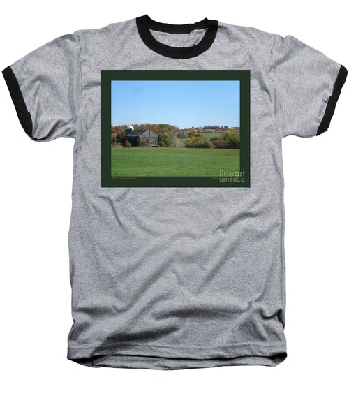 Three Farms In Autumn Baseball T-Shirt by Patricia Overmoyer