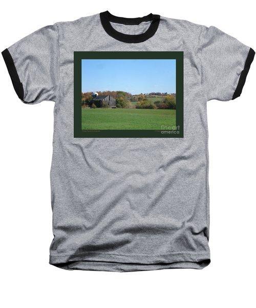 Three Farms In Autumn Baseball T-Shirt