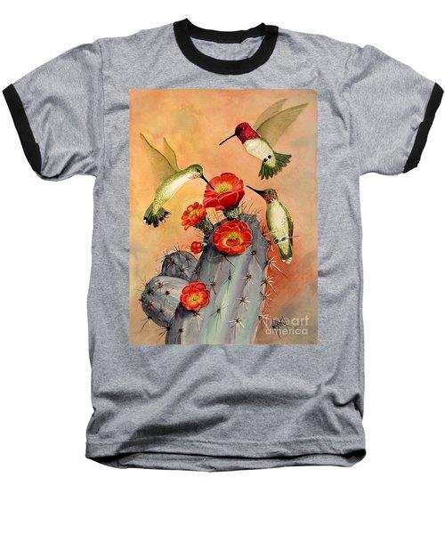 Three For Breakfast Baseball T-Shirt by Marilyn Smith