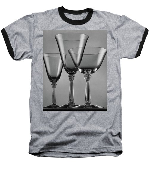 Three Glasses By Fostoria Baseball T-Shirt