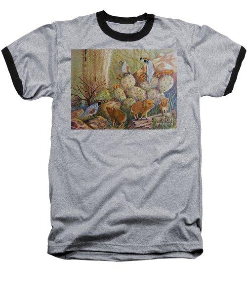 Three Little Javelinas Baseball T-Shirt by Marilyn Smith