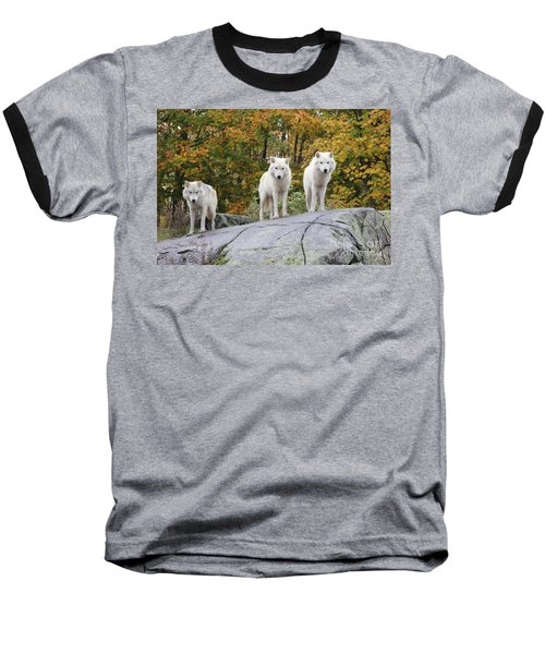 Three Looking At Me Baseball T-Shirt