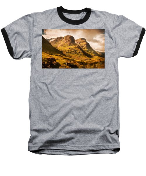 Three Sisters. Glencoe. Scotland Baseball T-Shirt by Jenny Rainbow