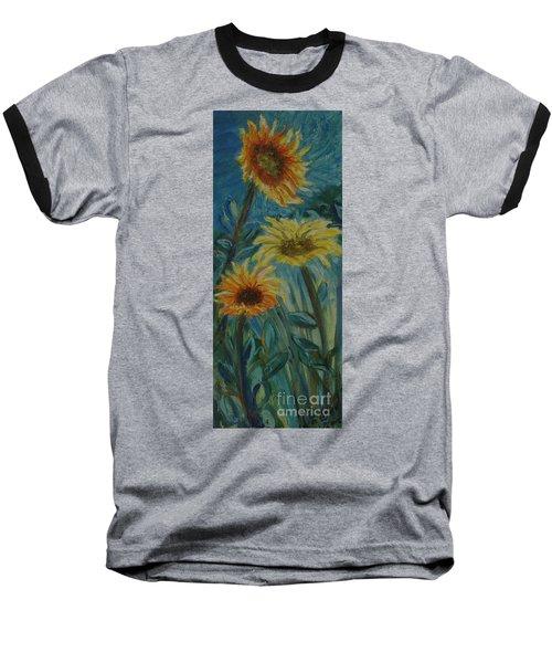 Three Sunflowers - Sold Baseball T-Shirt
