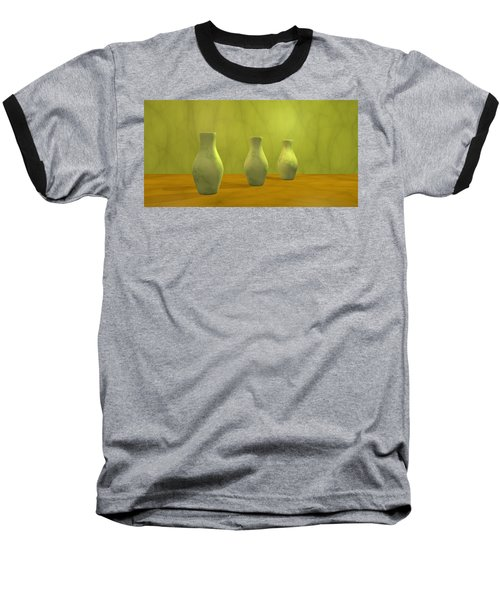 Baseball T-Shirt featuring the digital art Three Vases II by Gabiw Art