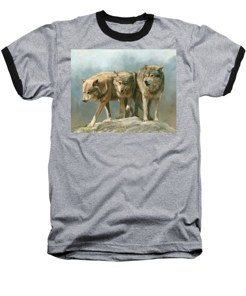 Three Wolves Baseball T-Shirt