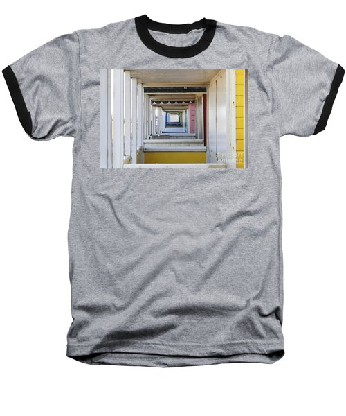 Through The Beach Huts Baseball T-Shirt