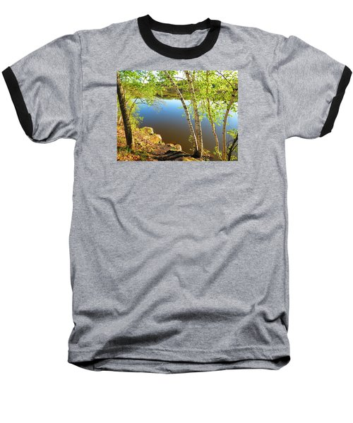 Through The Birch Baseball T-Shirt by MTBobbins Photography