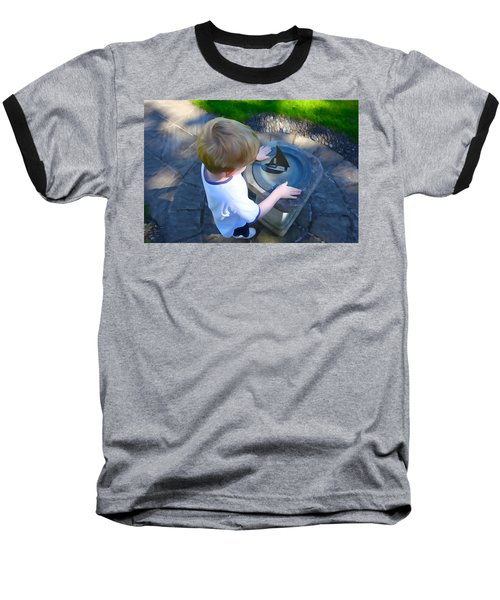 Through The Eyes Of A Child Baseball T-Shirt by Charlie and Norma Brock