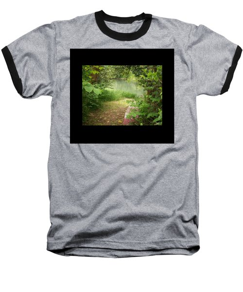 Baseball T-Shirt featuring the photograph Through The Forest At Water's Edge by Absinthe Art By Michelle LeAnn Scott