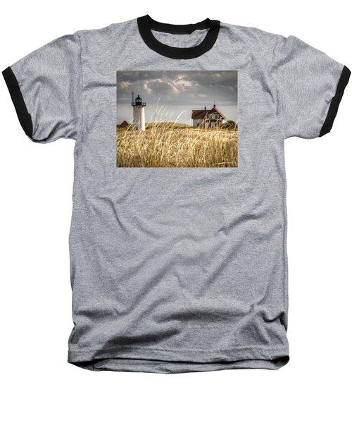 Race Point Light Through The Grass Baseball T-Shirt by Brian Caldwell