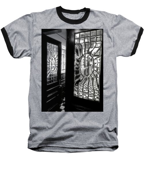 Through The Lookinglass And Onto The Checkerboard Baseball T-Shirt by Robert McCubbin