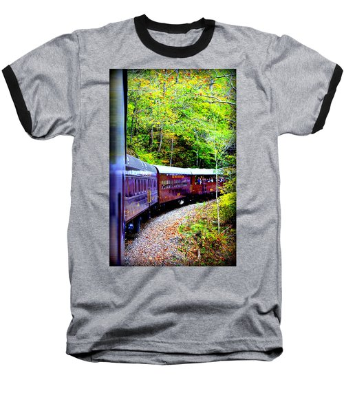 Through The Mountains Baseball T-Shirt