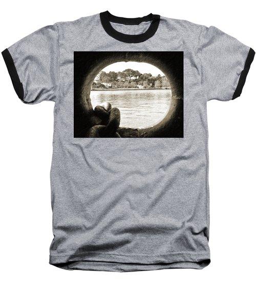 Through The Porthole Baseball T-Shirt by Holly Blunkall