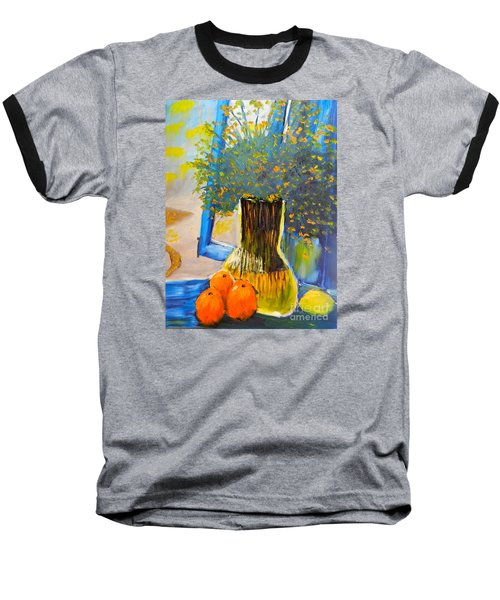 Through The Window Baseball T-Shirt by Pamela  Meredith