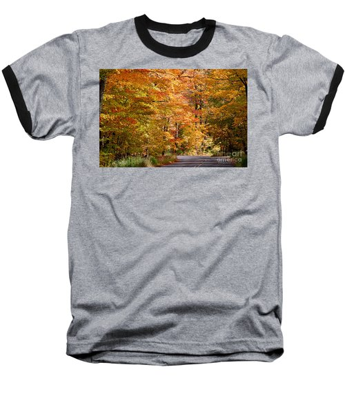Baseball T-Shirt featuring the photograph Through The Woods By D. Perry Lawrence by David Perry Lawrence