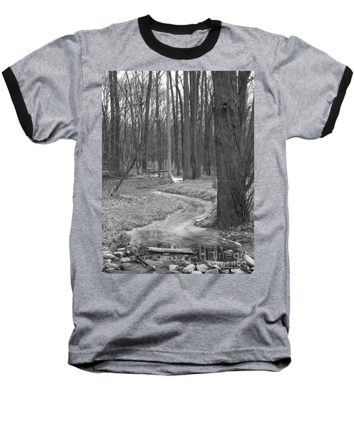 Through The Woods Baseball T-Shirt by Sara  Raber