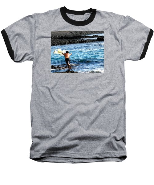 Baseball T-Shirt featuring the photograph Throw.... by Lehua Pekelo-Stearns