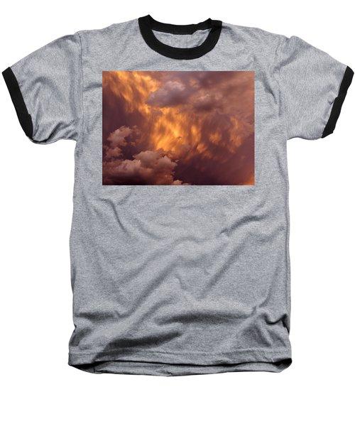 Thunder Clouds Baseball T-Shirt by David Pantuso