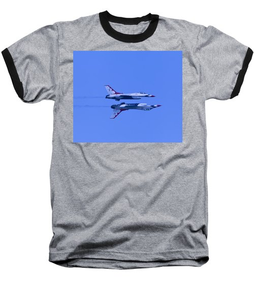 Baseball T-Shirt featuring the photograph Thunderbirds Solos 6 Over 5 Inverted by Donna Corless