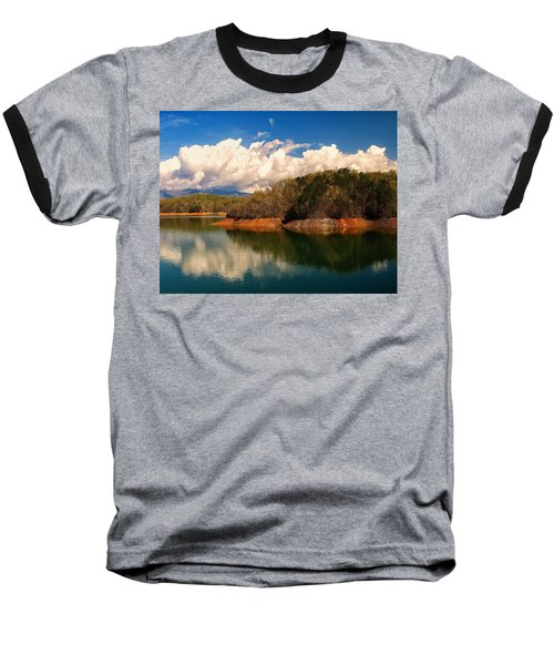 Thunderstorm Rolling Over The Smokies Baseball T-Shirt by Chris Flees