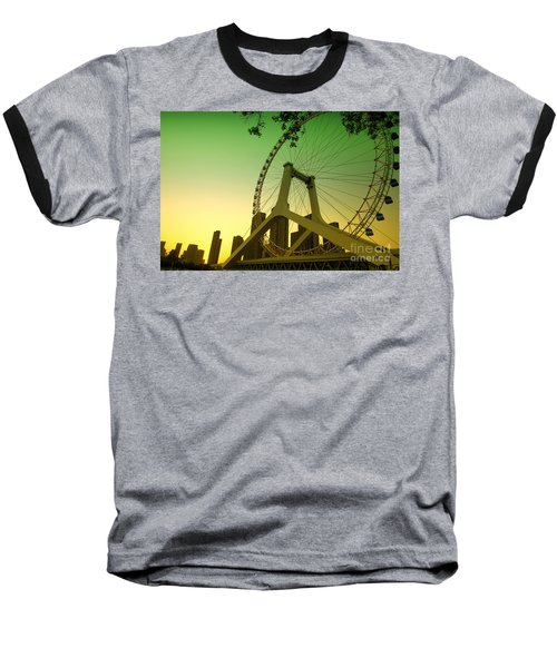 Tianjin Eye  Baseball T-Shirt by Yew Kwang