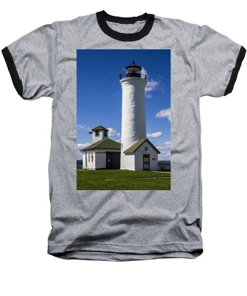 Tibbetts Point Lighthouse Baseball T-Shirt by Ben and Raisa Gertsberg