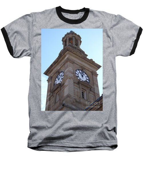 Tick Tock Baseball T-Shirt by Sara  Raber