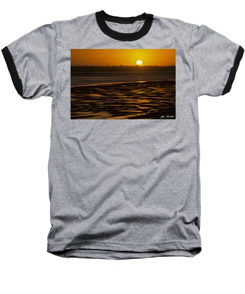 Baseball T-Shirt featuring the photograph Tidal Pattern At Sunset by Jeff Goulden