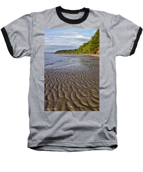 Baseball T-Shirt featuring the photograph Tidal Pattern In The Sand by Jeff Goulden