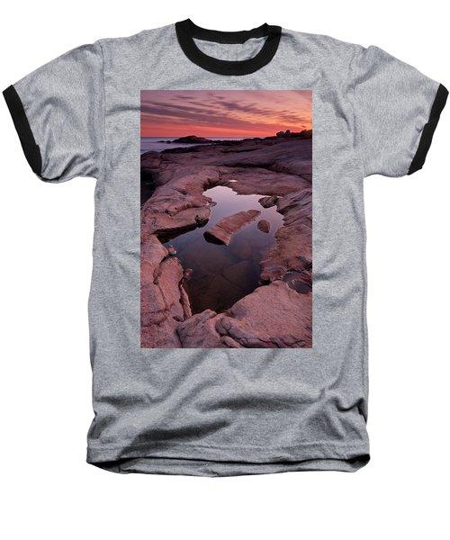Tide Pool Geometry Baseball T-Shirt