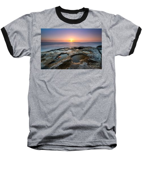 Tide Pool Sunset Baseball T-Shirt by Michael Ver Sprill