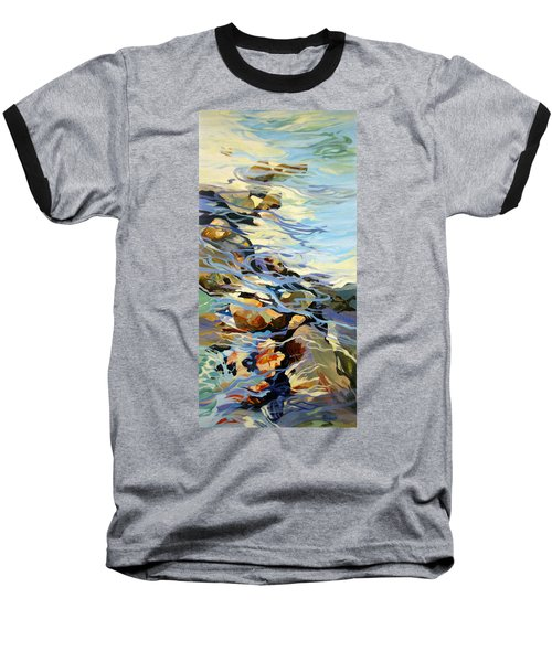 Baseball T-Shirt featuring the painting Tidepool 3 by Rae Andrews