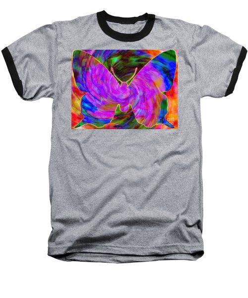 Tie-dye Butterfly Baseball T-Shirt by Elizabeth McTaggart
