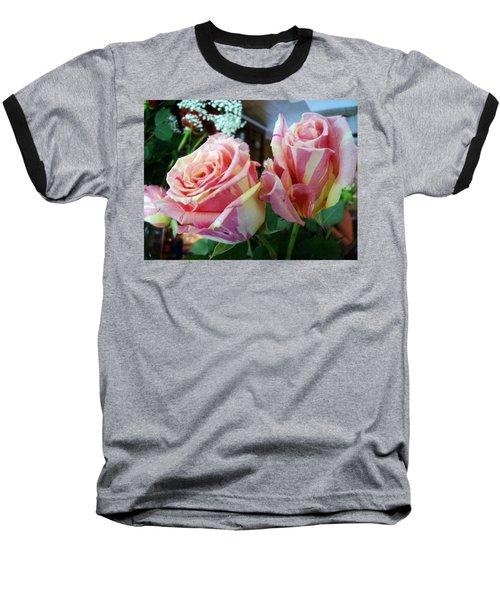Tie Dye Roses Baseball T-Shirt