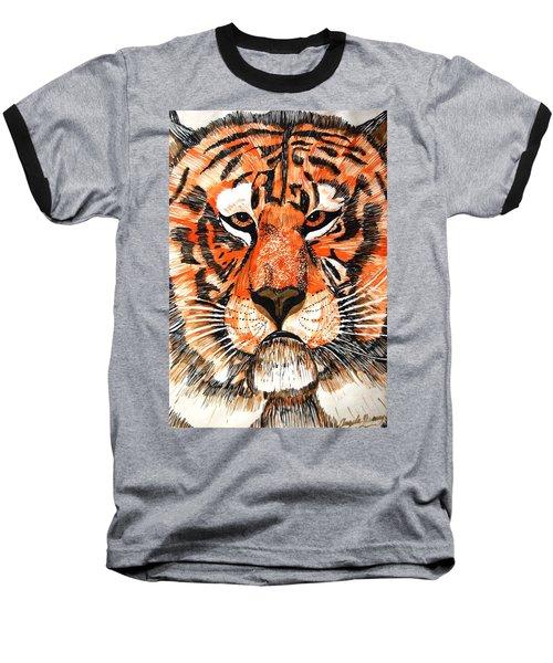 Tiger Baseball T-Shirt by Angela Murray