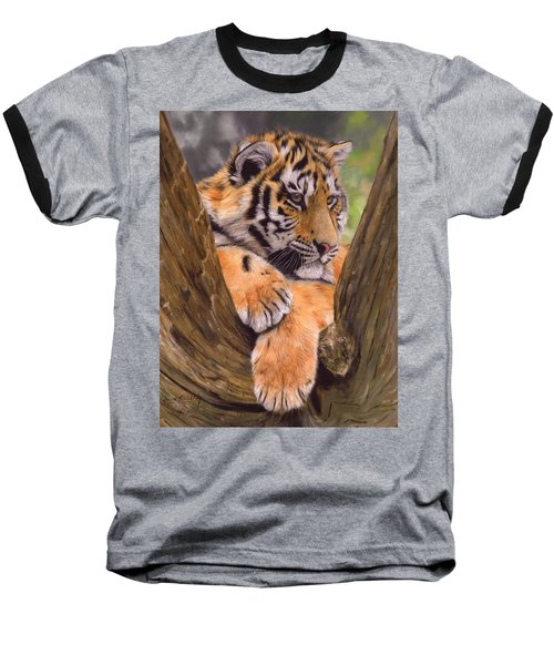 Tiger Cub Painting Baseball T-Shirt
