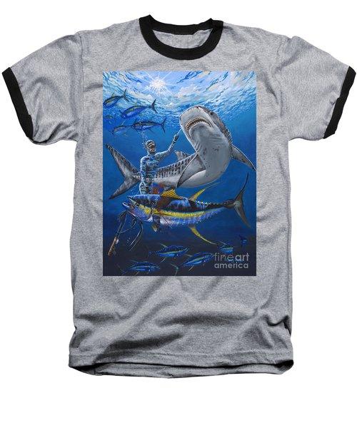 Tiger Encounter Baseball T-Shirt by Carey Chen