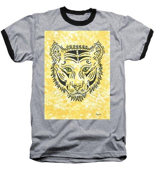 Tiger Eye Baseball T-Shirt by Susie WEBER