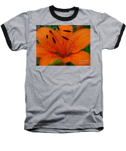 Baseball T-Shirt featuring the photograph Tiger Lily by Bianca Nadeau