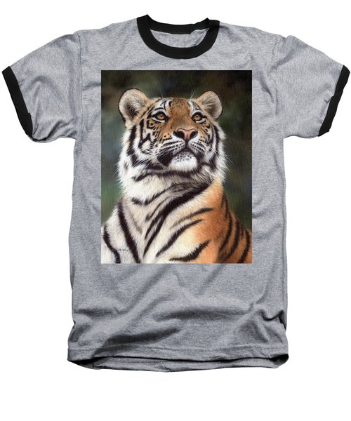 Tiger Painting Baseball T-Shirt
