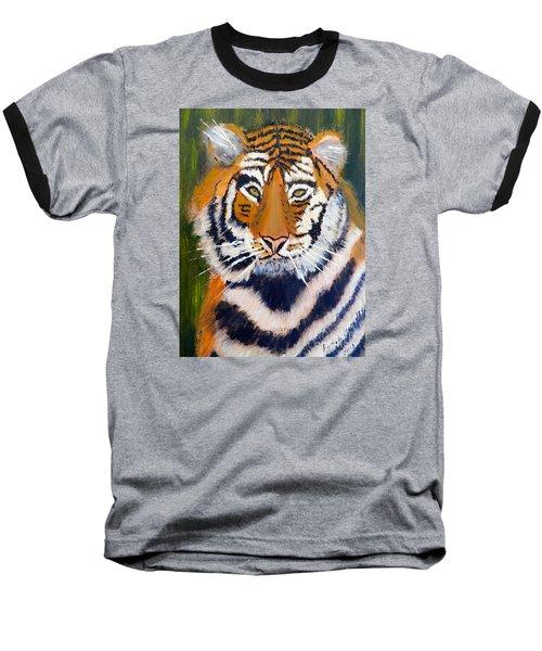 Tiger Baseball T-Shirt by Pamela  Meredith