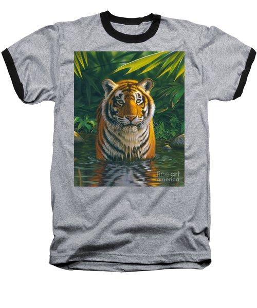 Tiger Pool Baseball T-Shirt by MGL Studio - Chris Hiett