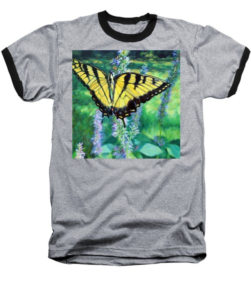 Tiger Swallowtail- Enjoying The Sweetness Baseball T-Shirt by Bonnie Mason