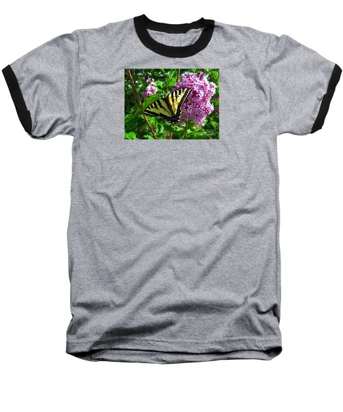 Baseball T-Shirt featuring the photograph Tiger Swallowtail by Janice Westerberg