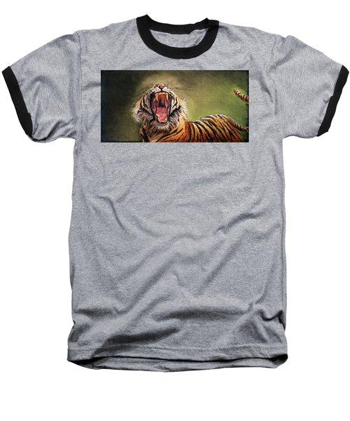 Tiger Yawn Baseball T-Shirt